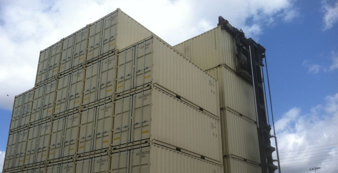 stacked storage containers