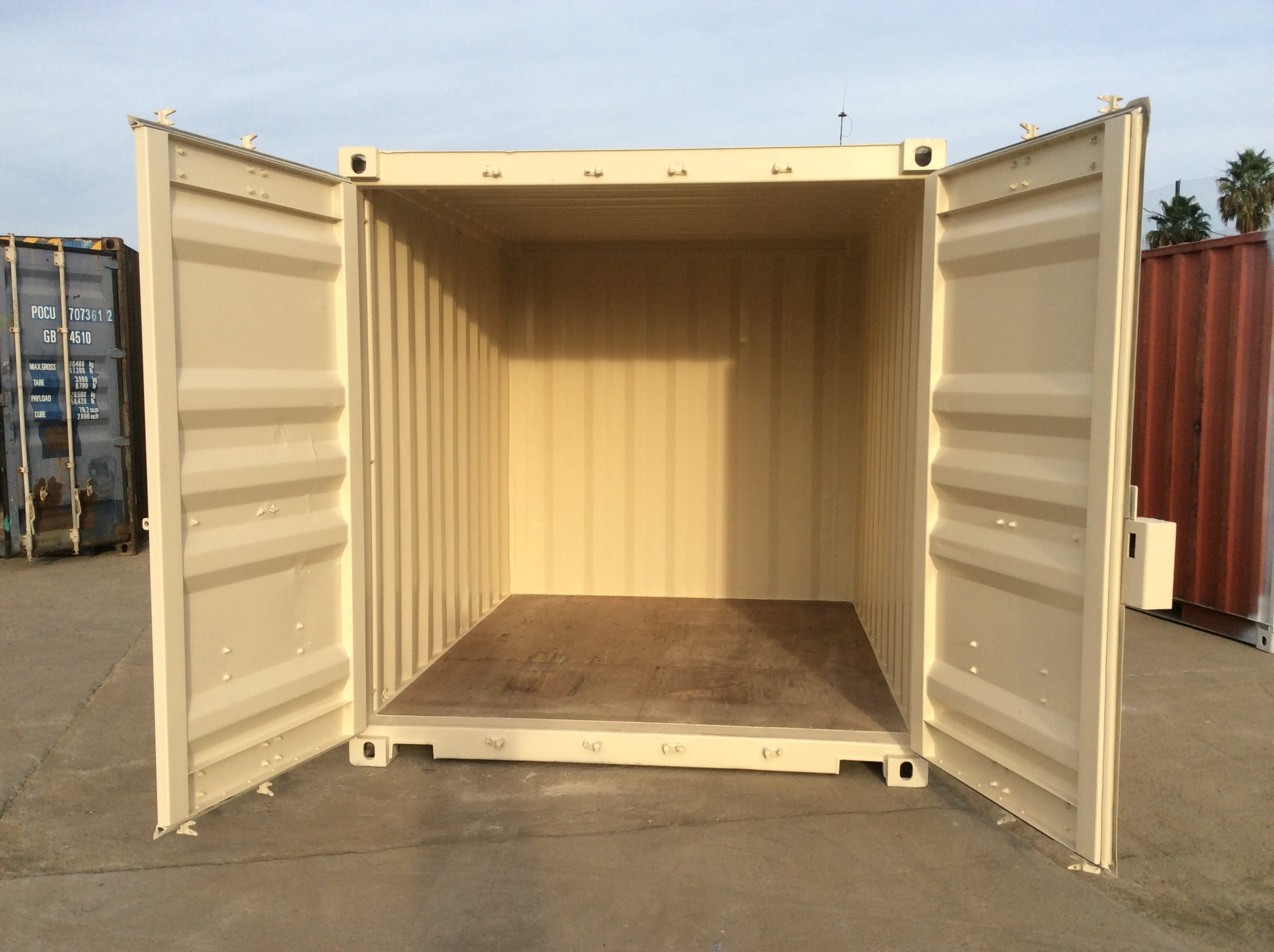 interior view of 10 ft shipping container